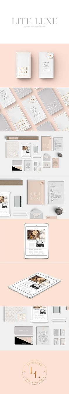 Lite Luxe branding, stationary and website by Smack Bang Designs #Branding #Stationary #Website #GraphicDesign #SmackBangDesigns