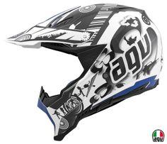 AGV AX-8 EVO - Cool White/Black/Blue