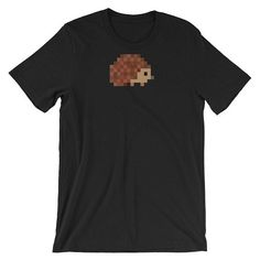 Your place to buy and sell all things handmade Funny Shirts For Men, Funny Tee Shirts, Hedgehog Game, Gamer T Shirt, Daily Wear, Pixel Art, Shirt Dress, Trending Outfits, Tees