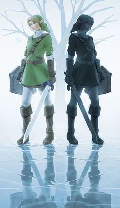 The Legend of Zelda: Ocarina of Time / Link and Dark Link