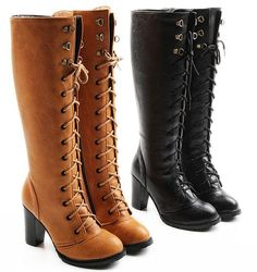 440b4e3c21b4ae knee boots high heel shoes winter fashion sexy warm long women boot pumps  on sale size