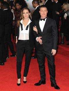 Well, This Is Embarrassing... Brad Pitt and Angelina Jolie Wore the Same Thing to the BAFTAs