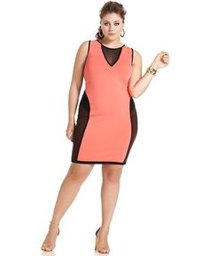 Baby Phat Plus Size Dress, Sleeveless Colorblocked - Plus Size Dresses - Plus Sizes - Macy's
