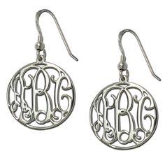 Sterling Silver Monogram Earrings Set | MyNameNecklace