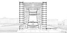 Riconversione area Bicocca, Sede Pirelli Re (ex torre di raffreddamento), Gregotti Associati, 1999-2004, Milano.