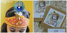 Montessori Inspired Janmashtami 3-part cards Lord Krishna, Deities, Montessori, Sage, Activities For Kids, Captain Hat, Culture, Indian, Inspired