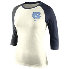 North Carolina Tar Heels Nike Women's Strong Side Tri-Blend Raglan T-Shirt - Natural