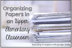 Great ideas on how to organize your materials!!