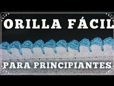 Crochet Edging Tutorial, Crochet Edging Patterns, Crochet Lace Edging, Crochet Borders, Baby Knitting Patterns, Easy Crochet, Crochet Stitches, Crochet Flower, Do It Yourself Videos