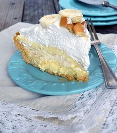 Amazing Banana Cream Pie made with a homemade rich, velvety custard, lots of fresh sliced bananas, a crunchy cookie crust, topped off with a mountain of fluffy whipped cream! Banana Cream Pie is one of my all time favorite desserts. Let me tell you though, I'm not alone in loving it. My whole family adores …