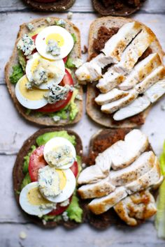 Bacon Jam Cobb Salad Sandwiches via I Will Not Eat Oysters