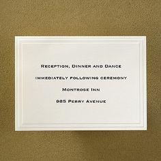 Ecru Leaf - Reception Card weddingneeds.carlsoncraft.com