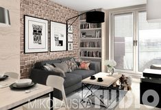 Small Apartment Interior, Apartment Renovation, Apartment Design, Living Room Interior, Apartment Living, Accent Walls In Living Room, New Living Room, Small Living Rooms, Living Room Designs