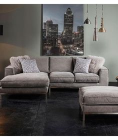 Introducing The Montreal 3 Piece Deep Seating Fabric Sectional. Soft  Contemporary Styling Meets Architectural