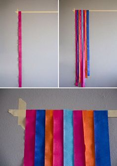 party streamers photo booth diy Create this fun, festive photo backdrop three easy steps! Streamer Backdrop, Diy Photo Backdrop, Backdrop Ideas, Photobooth Backdrop Diy, Photo Backdrops, Crepe Paper Backdrop, Party Streamers, Diy Birthday Backdrop, Birthday Streamers
