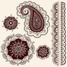 Henna Doodles Vector Designs by Jess Volinski, via Behance