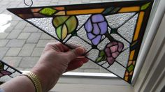 Stained Glass Window Corner Panel Display Floral Left or Right You Pick New | eBay