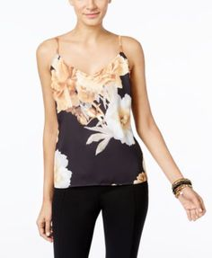 INC International Concepts Floral-Print Shell, Only at Macy's | macys.com