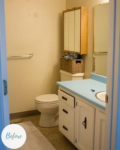 See how this dated bathroom goes from bland to grand.