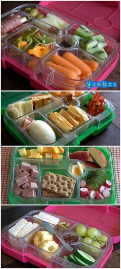 Tips for simple, healthy and delicious packed school or daycare lunches for kids. (not all these are healthy, the over processed lunch meats would be an example but can be modified. Lunch Snacks, Healthy Snacks, Healthy Eating, Healthy Recipes, Healthy Life, Kids Lunch For School, Lunch To Go, School Lunches, Work Lunches