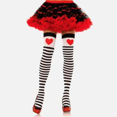 Bloody Home - Striped Red Heart - Stockings