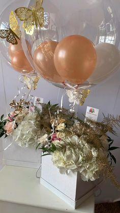 Balloon Box, Balloon Gift, Balloon Flowers, Balloon Bouquet, Balloon Garland, Balloon Stands, Birthday Balloon Decorations, Birthday Balloons, Baby Shower Decorations
