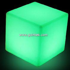 Rechargeable Led Light Up Cube Chair 50x50x50cm, Skype: gointekcom Email: gointekcom@gmail.com MSN:gointekcom@hotmail.com Web: www.gointek.com