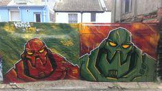 Robots #Brighton #Brightongraffiti #streetart #paintedcity