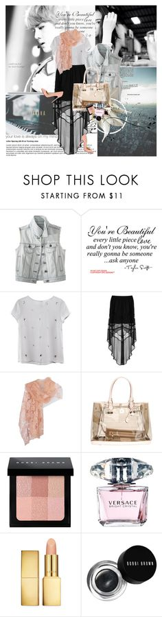 """""""Music and Lyrics"""" by rainie-minnie ❤ liked on Polyvore featuring Yamaha, Mossimo Supply Co., WALL, H&M, Topshop, Valentino, Christian Louboutin, V°73, Bobbi Brown Cosmetics and Versace"""