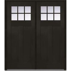 0416223d91e MMI Door 72 in. x 80 in. Shaker Right-Hand Inswing 6-Lite Clear Low-E  2-Panel Stained Fiberglass Fir Prehung Front Door-Z006292R - The Home Depot