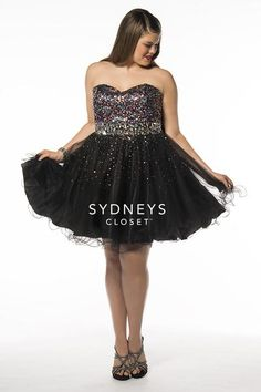 plus size strapless short ball gown