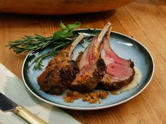 Rack of Lamb with Apple-Mint Puree recipe from Emeril Lagasse via Food Network