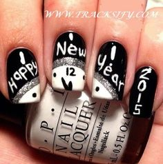 Both long nails and short nails can be fashionable and beautiful by artists. Short coffin nail art designs are something you must choose to try. They are one of the most popular nail art designs. Today, in this article, we have collected 40 stylish Nail Art Designs, New Years Nail Designs, New Years Nail Art, New Years Eve Nails, White Nail Designs, Xmas Nails, New Year's Nails, Fun Nails, Hair And Nails