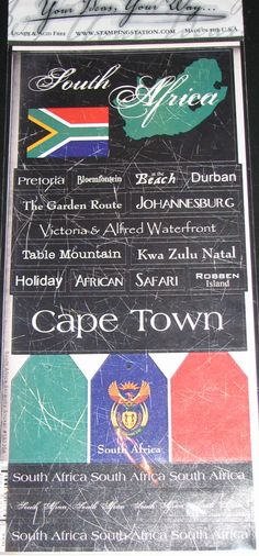 SOUTH AFRICA travel scrapbook stickers by HeritageAndHeart on Etsy, $3.00