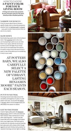 Choosing Paint Colors & Picking Paint Colors for Rooms | Pottery Barn