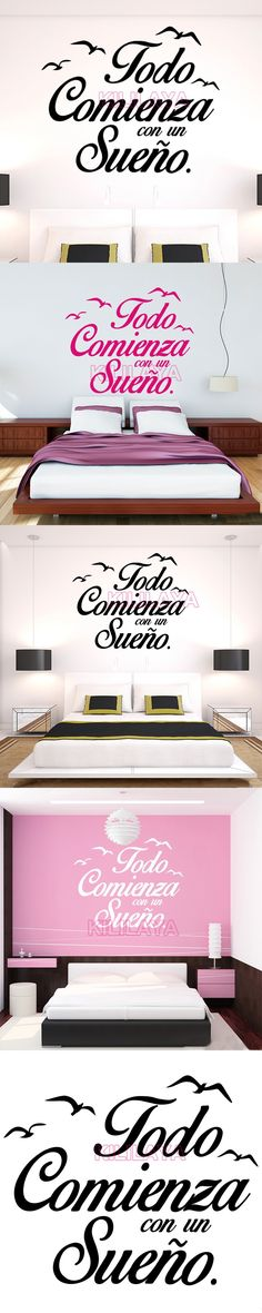 Wall Stickers Spanish Quote Vinyl Walls Decals Poster Wall Art Home ...