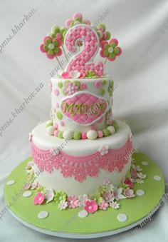 торт на годик девочке своими руками - Поиск в Google