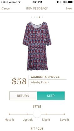 Market & Spruce Maeby Dress. I love Stitch Fix! A personalized styling service and it's amazing!! Simply fill out a style profile with sizing and preferences. Then your very own stylist selects 5 pieces to send to you to try out at home. Keep what you love and return what you don't. Only a $20 fee which is also applied to anything you keep. Plus, if you keep all 5 pieces you get 25% off! Free shipping both ways. Schedule your first fix using the link below! #stitchfix @stitchfix. Stitchfix…