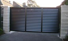 MDI specializes in domestic automatic sliding gate systems. If you are looking for any kind of sliding gate solution in Australia, then contact us today! Gate Wall Design, Steel Gate Design, Fence Design, Gate Designs Modern, New Home Designs, Modern Design, Entrance Gates, House Entrance, Electric Sliding Gates