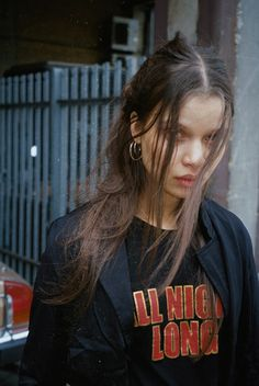 Stella wears our All Night Long Tee available online now loversanddrifters.com