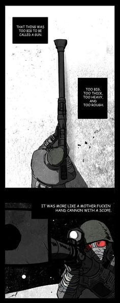 Yah, Fallout modded sniper rifles in a nutshell Fallout Comics, Fallout Posters, Fallout Funny, Fallout Fan Art, The Elder Scrolls, Video Game Memes, Video Games, Military Humor, Military Personnel