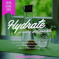 From the inside AND out! You don't workout without your water bottle, your skin is begging for it too. Skin Cream, Skin Care Tips, Your Skin, Runners, Water Bottle, Skincare, Passion, Workout, Day
