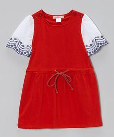 Red Embroidered Tunic - Toddler & Girls by Paulinie #zulily #zulilyfinds