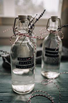 PYYKKIETIKKA - VIIME HETKEN LAHJAVINKKI - Hannan soppa Diy Presents, Diy Gifts, Diy Christmas Gifts, Xmas, Little Gifts, Small Gifts, Diy And Crafts, Perfume Bottles, Homemade