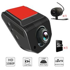 "AIDOUT FHD 1080P Dash Cam - 170° Wide Angle Dashboard Camera Recorder 3"" Dual Car Vehicle DVR Camcorder Recorder with Rear Camera & 8GB Card - Loop Recording, G-Sensor & Parking Monitor. For product info go to:  https://www.caraccessoriesonlinemarket.com/aidout-fhd-1080p-dash-cam-170-wide-angle-dashboard-camera-recorder-3-dual-car-vehicle-dvr-camcorder-recorder-with-rear-camera-8gb-card-loop-recording-g-sensor-parking-monitor/"