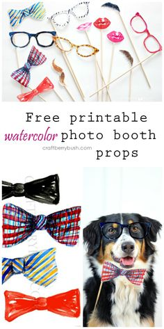 Free watercolor photo booth props