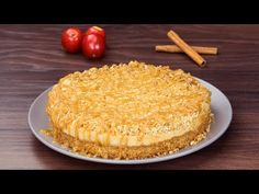Cheesecake cu mere și caramel- un desert cremos, fin și extrem de delicios! - YouTube