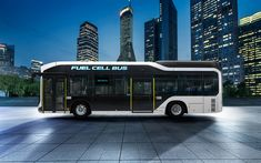 تحميل خلفيات تويوتا Sora خلية وقود الحافلة, 4k, 2018 الحافلات, الهيدروجين الحافلة, تويوتا Sora, نقل الركاب, تويوتا