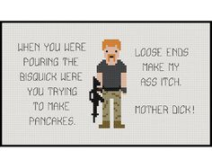 The Walking Dead Abraham Quotes Cross Stitch PDF by StitchFusion Cross Stitching, Cross Stitch Embroidery, Embroidery Patterns, Cross Stitch Patterns, The Walking Ded, Walking Dead, Types Of Stitches, Pattern Images, Cover Pages