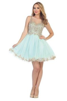 Lace Top Cocktail Homecoming 2016 dress 107-6020